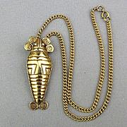 Vintage ALVA Museum Replicas Pre-Columbian Style Pendant Necklace