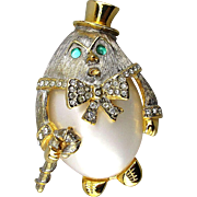 KJL Kenneth J Lane Humpty Dumpty Jelly Belly Pin Book Piece