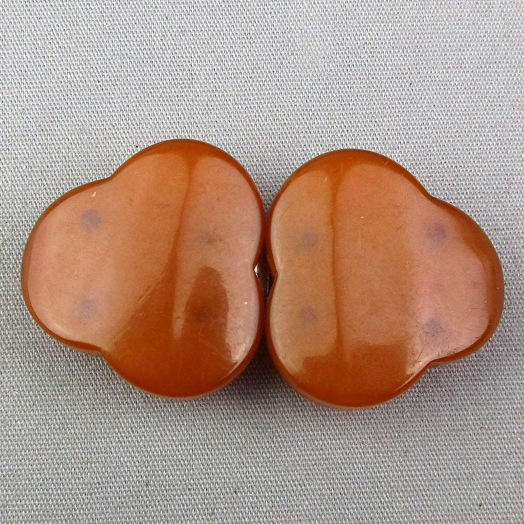 Small Chunky Bakelite Butterscotch Buckle Clasp Sew On