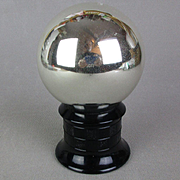 Rare Art Deco Mercury Glass Butler's Ball Mirrored Spy Glass