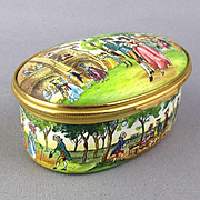 Halcyon Days Enamels Trinket Box - Vauxhall Gardens Ltd. Ed. Percy Shelley