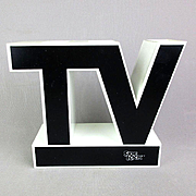 Graphic Modernist Pop Culture TV Lucite Caddy Stand for Remotes