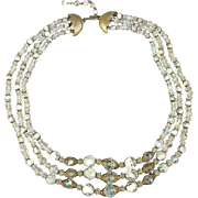 All Occasion 3 Strand Austrian Crystal Bead Necklace