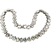 Vintage Kirk's Folly Chunky Rhinestone Hollywood Style Necklace