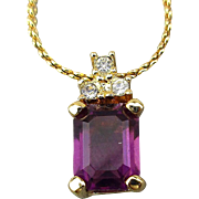 Vintage Christian Dior Jewel Drop Pendant Necklace ~ C D ~