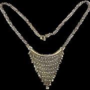 Vintage Sterling Silver Italian Fringe Necklace