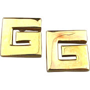 Iconic Designer Letter ~ G ~ Givenchy Earrings - Pierced Ears