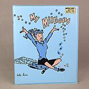 1960s DATE LINE Vinyl Bank ~ My Millions ~ Teenage Girl - Poodle