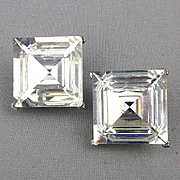 KJL Square Crystal Geometric Faceted Earrings Kenneth Lane