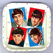 Original 1964 Beatles Metal Tray Worcester Ware Britain