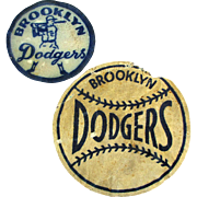 Pair of 1950s Brooklyn Dodger Baseball Patches