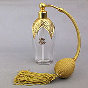Art Deco French E. Coudray Perfume Bottle Atomizer