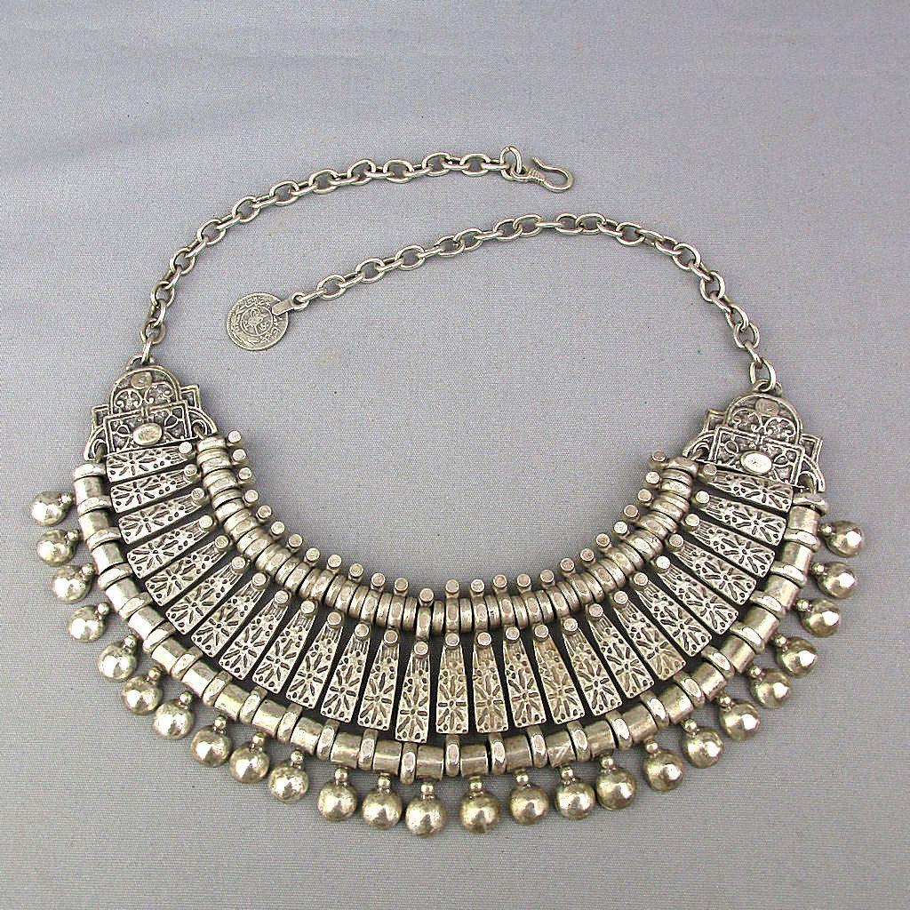 SOLD TO J.T. - Old Tribal Necklace Modernized c1970s