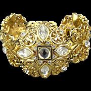 Vintage Whiting & Davis Rhinestone Bracelet