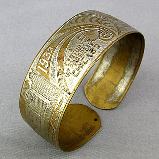 1933 Chicago World's Fair Souvenir Bracelet