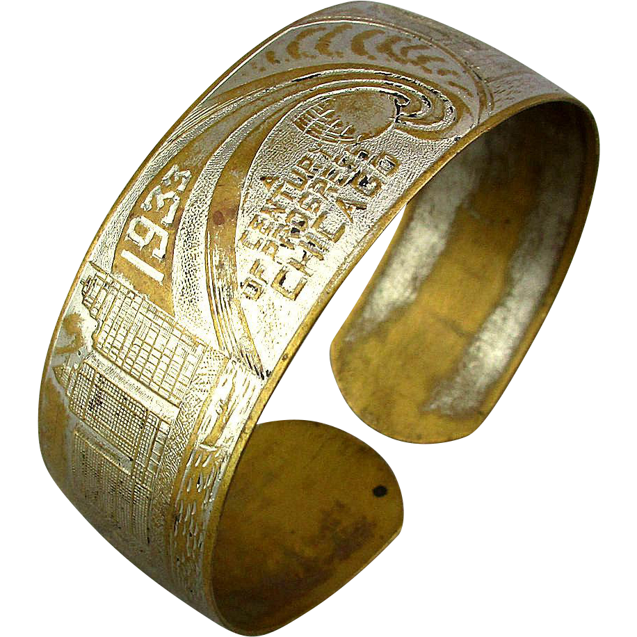 1933 chicago world 39 s fair souvenir bracelet from for Best place to sell gold jewelry in chicago