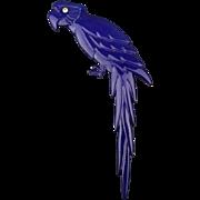 Vintage Buch & Deichmann Purple Parrot Plastic Pin Brooch