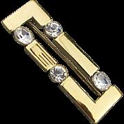 Gee...It's a ~ G~ Givenchy Rhinestone Bar Pin