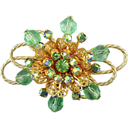 Gorgeous Vintage Rhinestone Pin Brooch