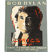 Hardcover Book - Bob Dylan Lyrics 1962 - 1985 - w/ Writings and Drawings