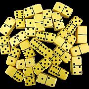 Bakelite Catalin Domino Set 28 Miniature Tiles in Orig. Box