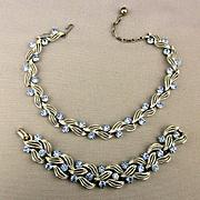 Vintage LISNER Rhinestone Necklace - Bracelet Set
