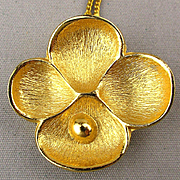Vintage Oscar de La Renta Necklace Flower Perfume Pendant