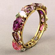 Gorgeous c1950s Rhinestone Clamper Bracelet