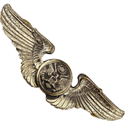 Original WWII Sterling Silver Army Air Force Air Crew Pin Wings