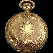 Antique Victorian 14K Gold Pocket Watch Case - Locket - Pillbox Pendant