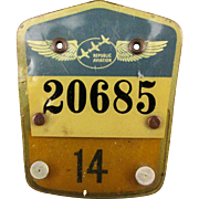 Vintage Republic Aviation Employee Badge c1940s