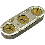 Vintage 1950s NYC Small ~ Y ~ Cut-Out Subway Transit Token in Case - Tokens