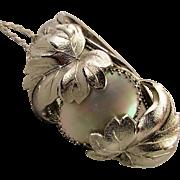 Vintage Leafy Mother-of-Pearl Hinge Bracelet - Whiting & Davis