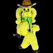 Vintage J.J. Haughty Struttin' Cowboy Poodle Pin Enamel