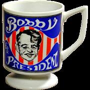 Vintage 1968 Robert Kennedy ~ Bobby for President ~ Coffee Mug RFK