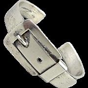 Vintage Sterling Silver Buckle Cuff Bracelet