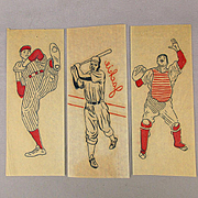 Set of 1950s Baseball Iron-On Decals w/ Jackie Robinson