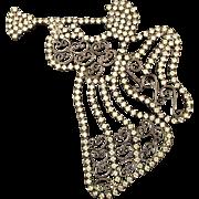 Bettina von Walhof Angel Blowing Horn Swarovski Crystal Pin