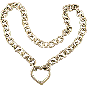Vintage Tiffany & Co. Sterling Silver Heart Clasp Necklace w/ Box
