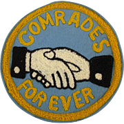 Old Socialist COMRADES FOREVER Large Embroidered Patch