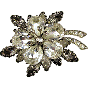 Gorgeous Tiered Crystal Rhinestone Pin - Austrian Beauty