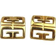Vintage Givenchy ~ G ~ Quad Logo Earrings