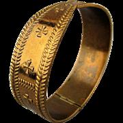 Kalevala Koru Modernist Mid Century Bronze Hinge Bracelet Finland