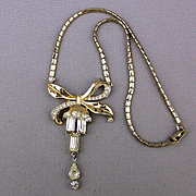 Vintage 1951 CORO Adolph Katz Rhinestone Necklace
