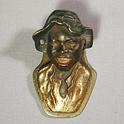 Old 1920s Judd Heavy Metal Letter Paper Desk Wall Clip Johnny Griffin Black Americana