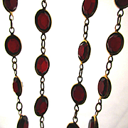 Swarovski Red Crystal Necklace - Long Sensuous Rope