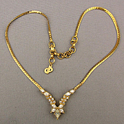 Christian Dior Faux Diamond Rhinestone Necklace