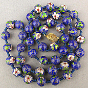 Chinese Cloisonne Enamel Bead Necklace