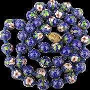 Chinese Cloisonne Enamel Bead Necklace