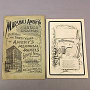 Old 1895 NYC Death Panels Printer's Catalog w/ Sample AMERY